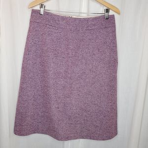 Lands End Purple Wool Skirt, Size 10